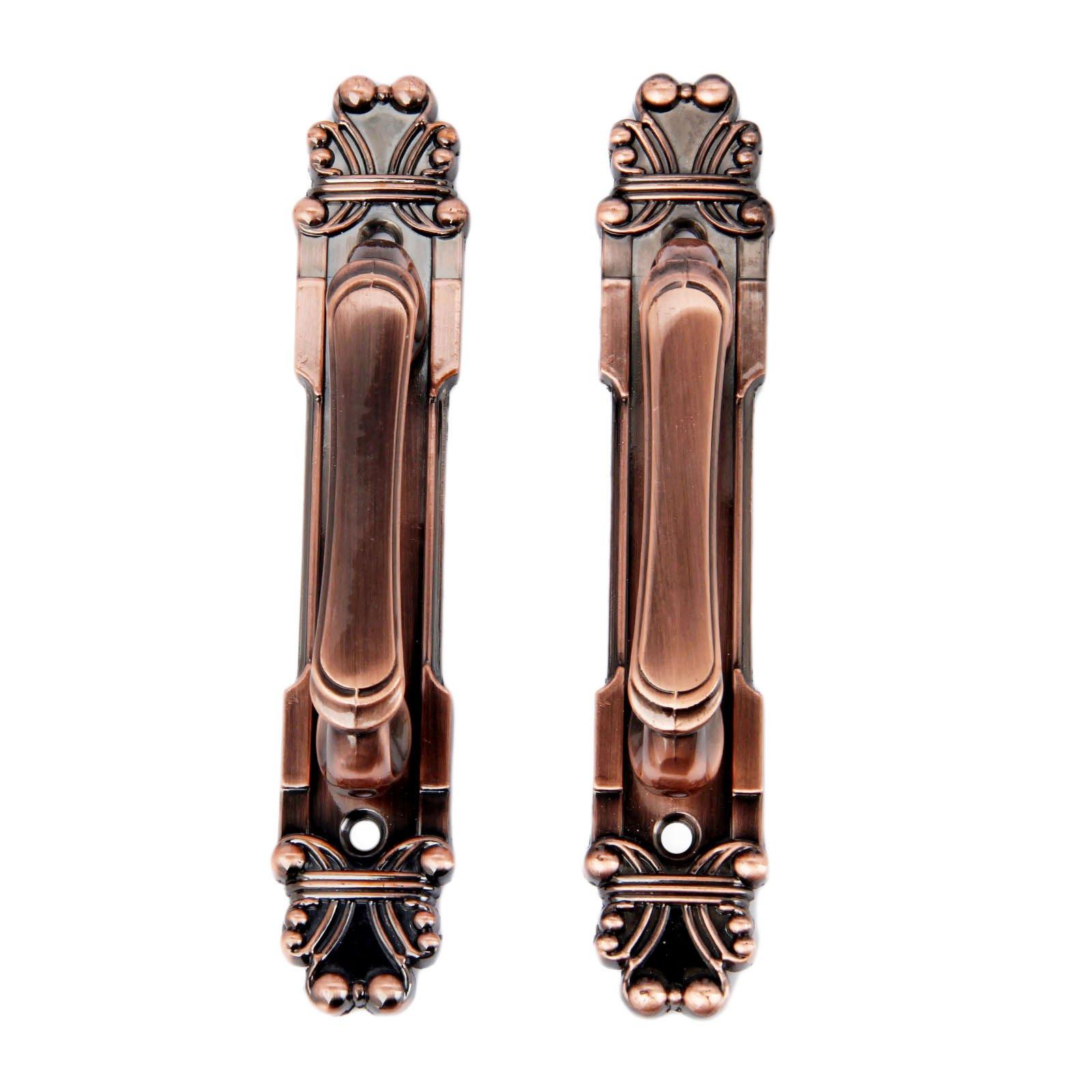 10Pcs 165mm European Style Vintage Brass Metal Knobs Handles For Home Cabinet Door Drawer Wardrobe Cupboard Red Bronze