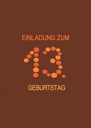 Coole Geburtstags Party Einladungskarte Für Teenager: Einladung Zum 13.  Geburtstag U2022 Auch Zum Direkt