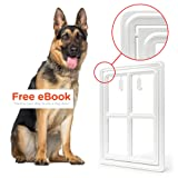 Amazon Price History for:Pet Dog Door for Screens – Two-Way Self-Locking Screen Dog Door with Magnetic Lock – Different No-Break Hinge – White Plastic Patio Dog Door Large – 12 in. x 16 in. – by All Dog's Needs
