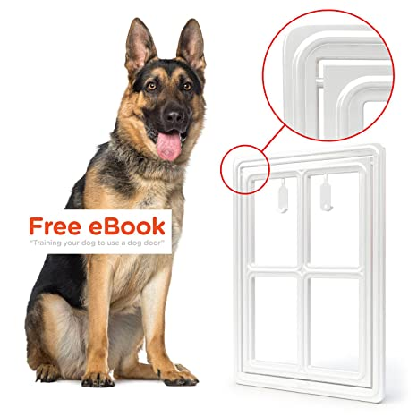 Pet Dog Door for Screens u2013 Two-Way Self-Locking Screen Dog Door with  sc 1 st  Amazon.com & Amazon.com : Pet Dog Door for Screens - Two-Way Self-Locking Screen ...