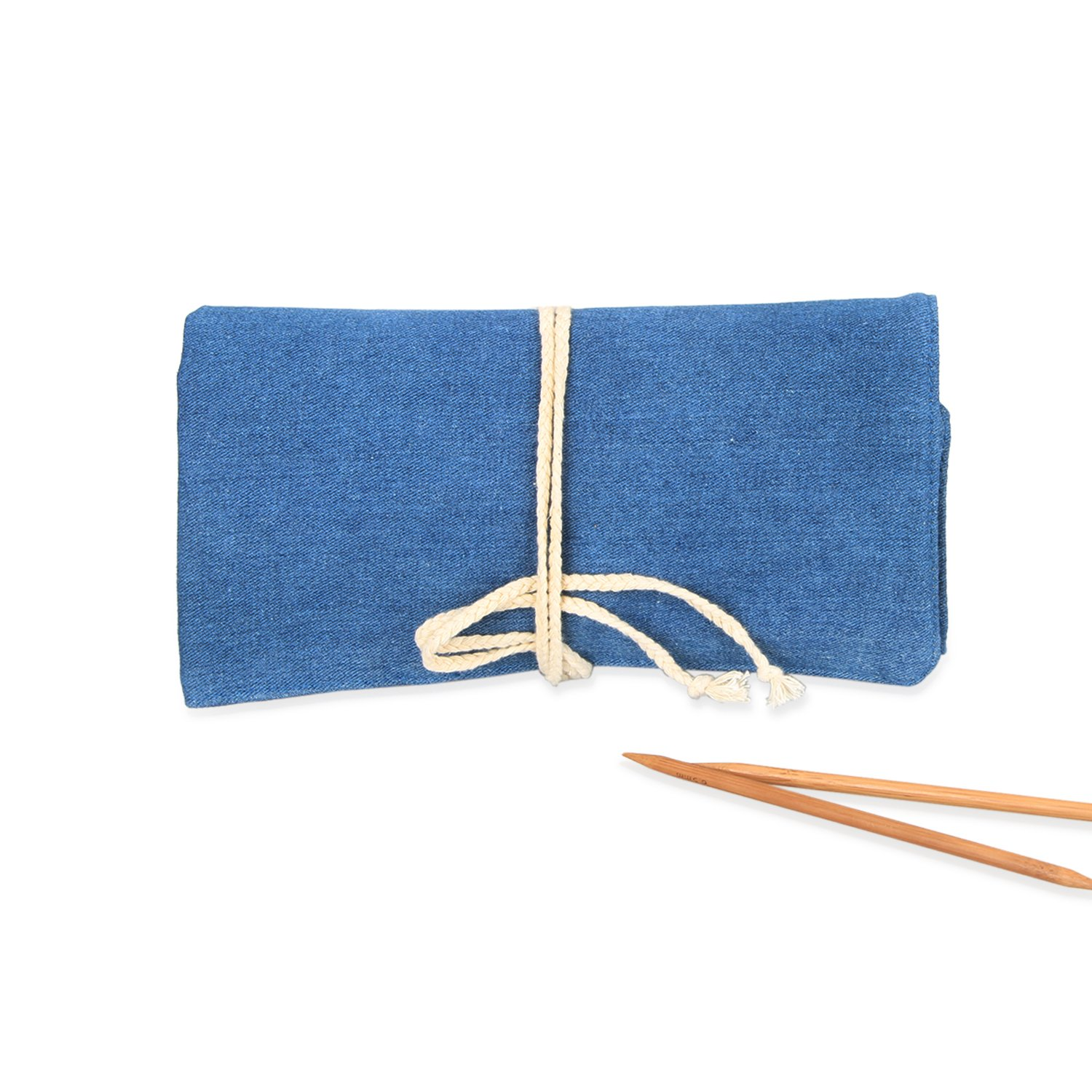 Luxja Knitting Needles Organizer, Rolling Bag for Knitting Needles (up to 10 Inches), Crochet Hooks and Accessories (No Accessories Included), Blue by LUXJA (Image #7)