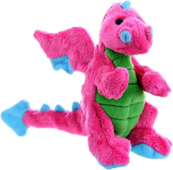 GoDog Dragons Chew Guard Plush Squeaker Dog Toy