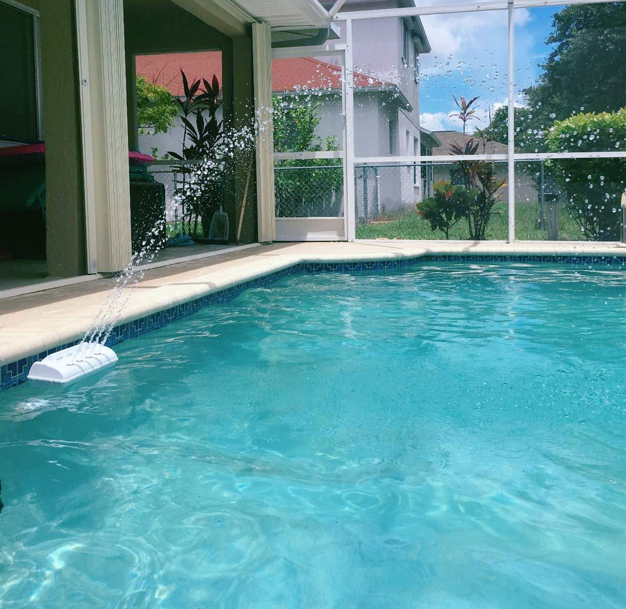 Amazon.com : Festnight Outdoor Swimming Pool Fountain Cascade ...