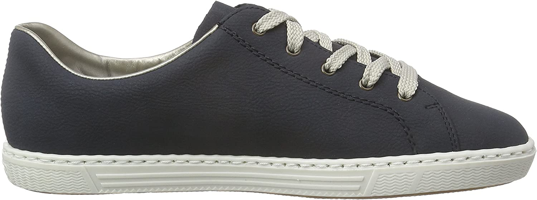 Rieker Damen L0943 Women Low Top Sneakers, Blau (Pazifik dXpyF