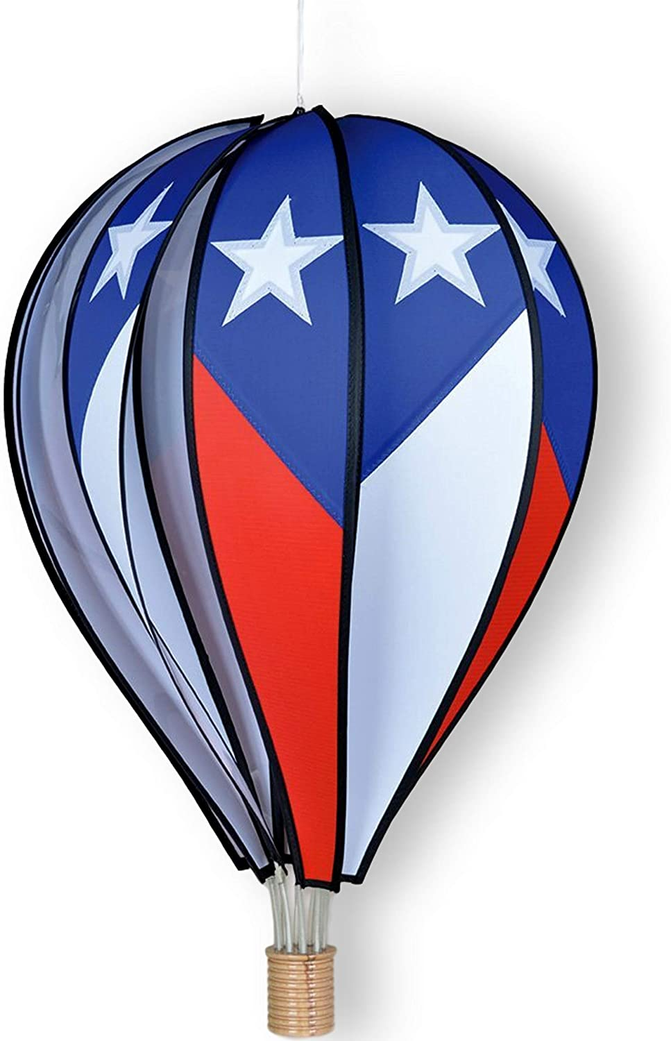 Premier Kites Hot Air Balloon Wind Spinner 26 Inch 10 Panel Hanging Spinning Balloon Decoration Quality Large Wind Spinner For Yard And Garden Patriotic Balloon Hot Air Balloon Wind Spinners Garden Outdoor Amazon Com