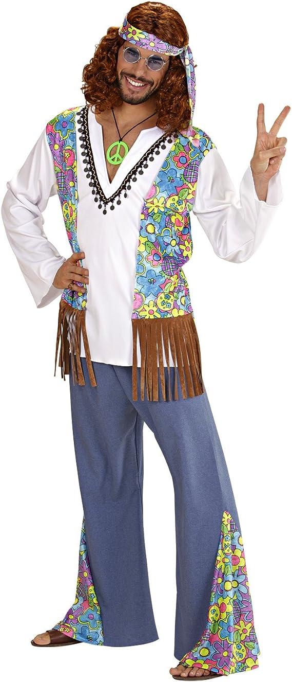 Disfraz Carnaval adulto Hippie Woodstock, años 60 Hippie * 19770 ...