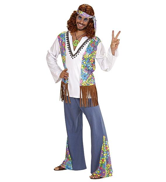 a39cccf2241d WIDMANN Costume Carnevale Adulto Hippie Woodstock