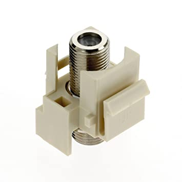 On-Q F3481LAV5 Video FConnector, Light Almond