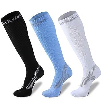 2082e5d2f Amazon.com  Compression Socks for Women Men-Breathable Compression ...