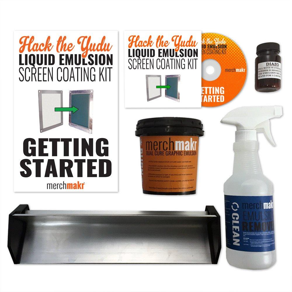 Hack the Yudu Screen Liquid Emulsion Kit Mini by merchmakr (replaces 25 Emulsion Sheets)