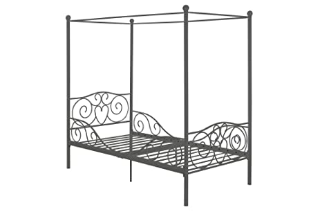 Amazoncom DHP Canopy Metal Bed Frame Twin Size Silver Kitchen