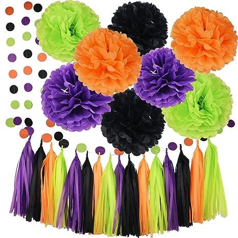 amazon com halloween party decorations orange black purple green