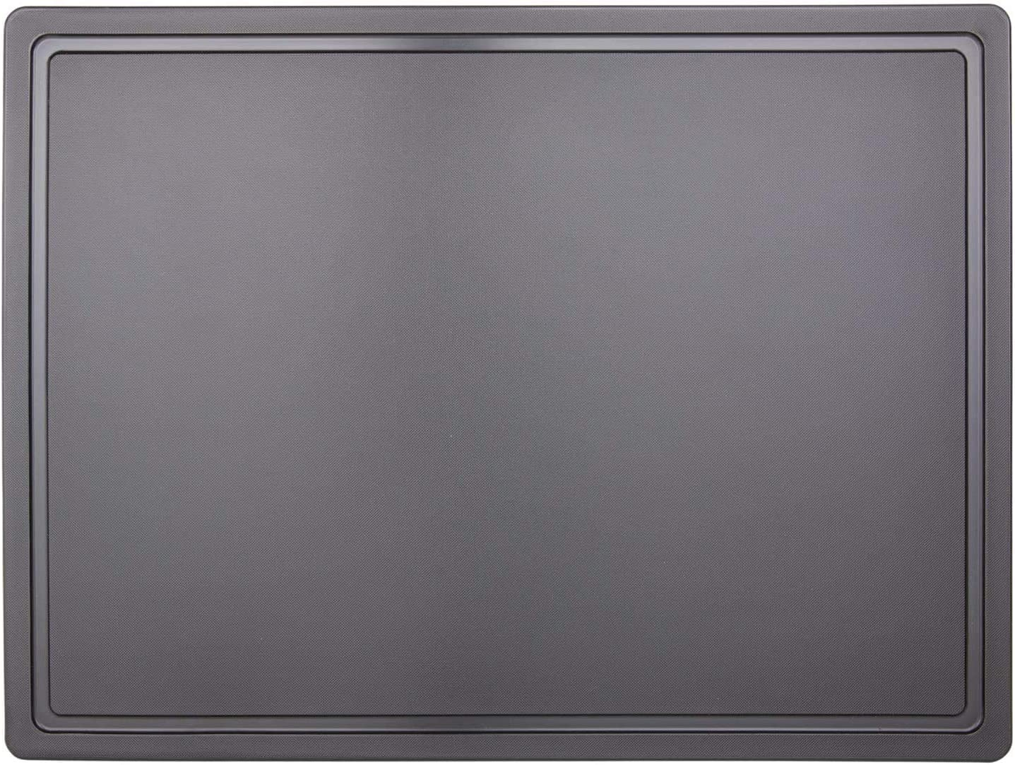 Extra Large 24x18 Black Plastic Carving Board with Groove, NSF Certified, 3/4 Inch Thick HDPE Poly