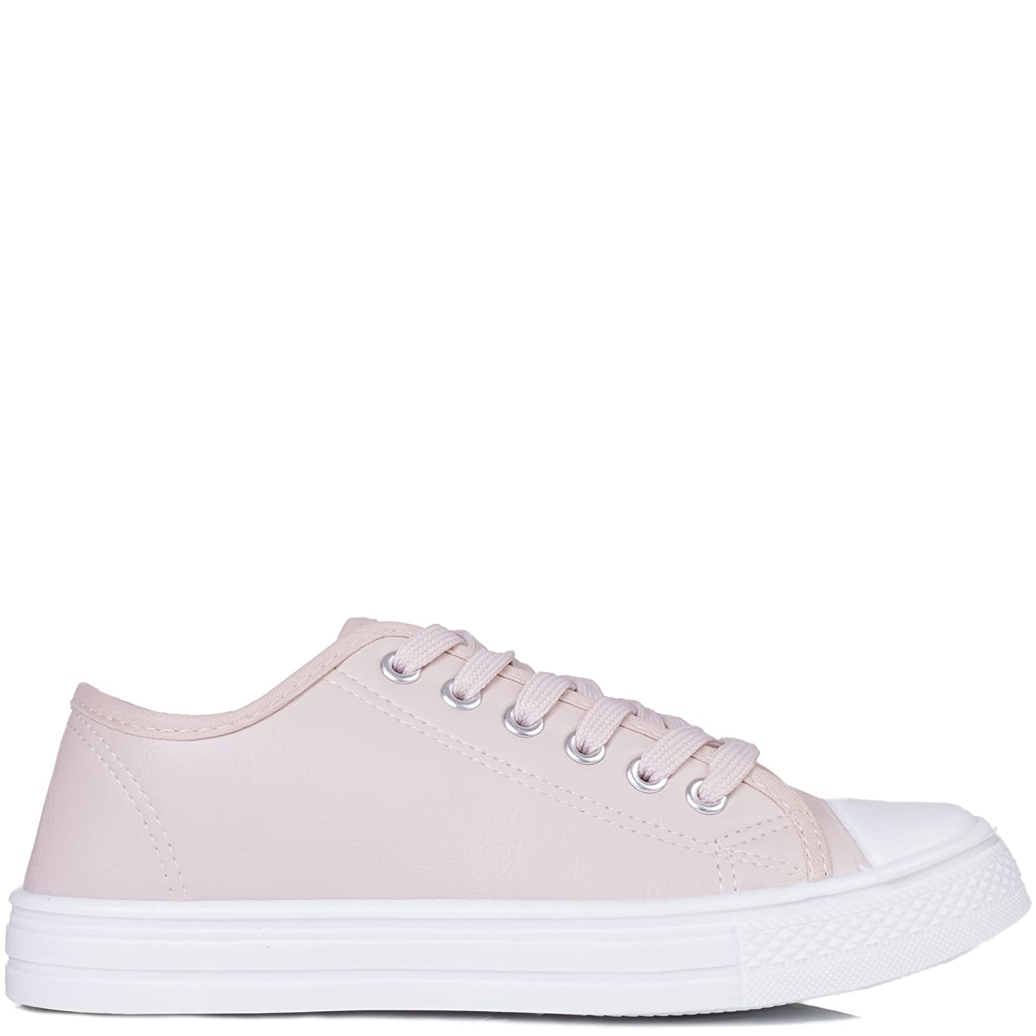 5633c844f SPY LOVE BUY Never Fear Women's Lace Up Flat Trainers Shoes: Amazon.co.uk:  Shoes & Bags