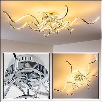 Designer Decken Leuchte Moskau Minimalistische Wohnzimmerlampe Mit Geschwungenen Lichtleisten Sehr Wirkungsvolle Deckenbeleuchtung Fr