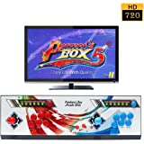 Wisamic Real Pandora's Box 5 Arcade Video Game Console 960 Games with Customized Buttons, 1280x720 Full HD, Upgraded CPU, etc Support PS3 PC TV 2 Players (6 Buttons)