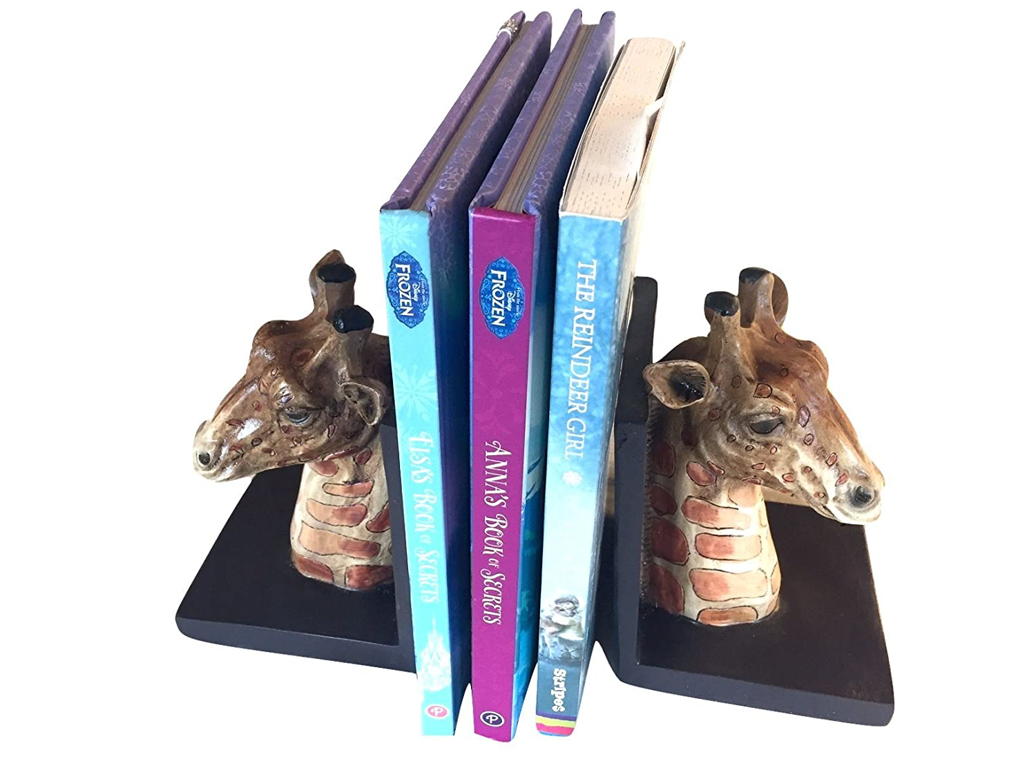 Hand Painted Giraffe Bookends S S