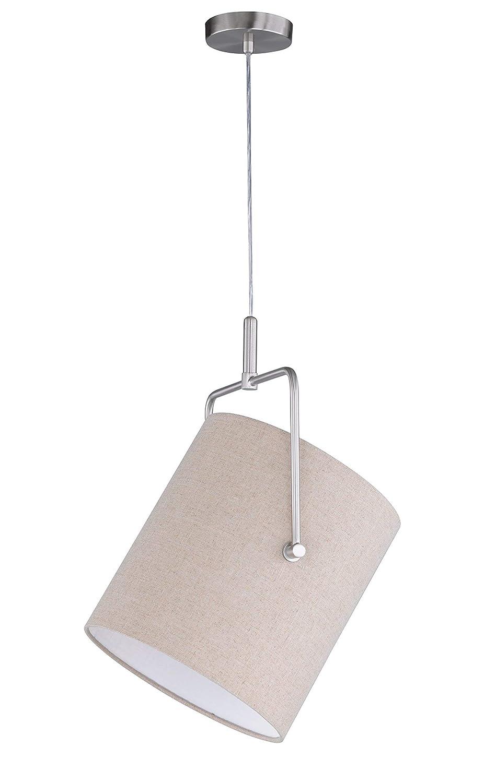 Honsel Leuchten Pendelleuchte Metall E27, 46 W, matt nickel 30 x 30 x 136 cm