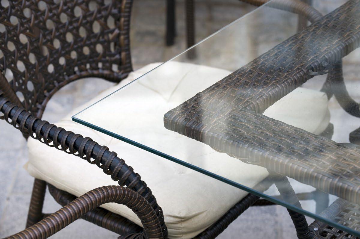 MySpiegel.de Glasplatte Tisch Glastisch Tischplatte Glas Zuschnitt 35mm  35x35 cm Glasplatten nach Maß Klar Durchsichtig Glasscheibe