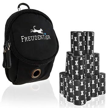 Bolsas biodegradables para residuos de perro 33x22cm (300 UNIDADES) | Incl. Dispensador de bolsas de basura multifuncional para perros | Extra grueso ...