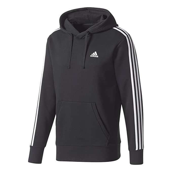 Amazon.com: adidas Men Hoodie Pullover Running 3 Stripes ...