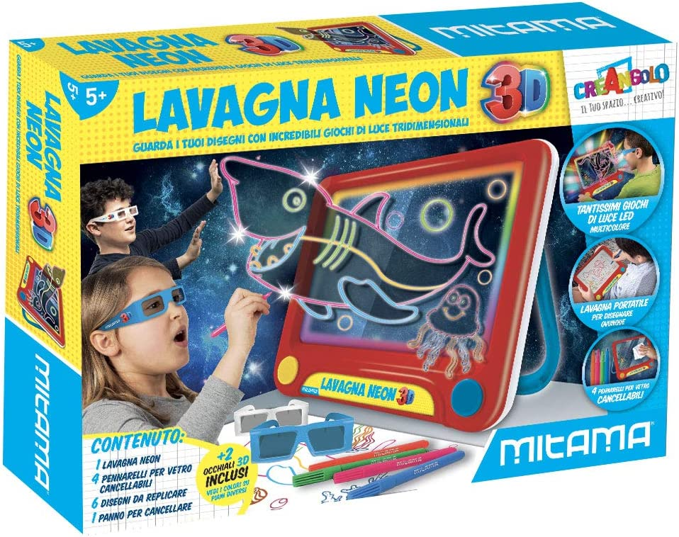 Mitama 62502 Pizarra mágica 3D – creangolo: Amazon.es: Juguetes y ...