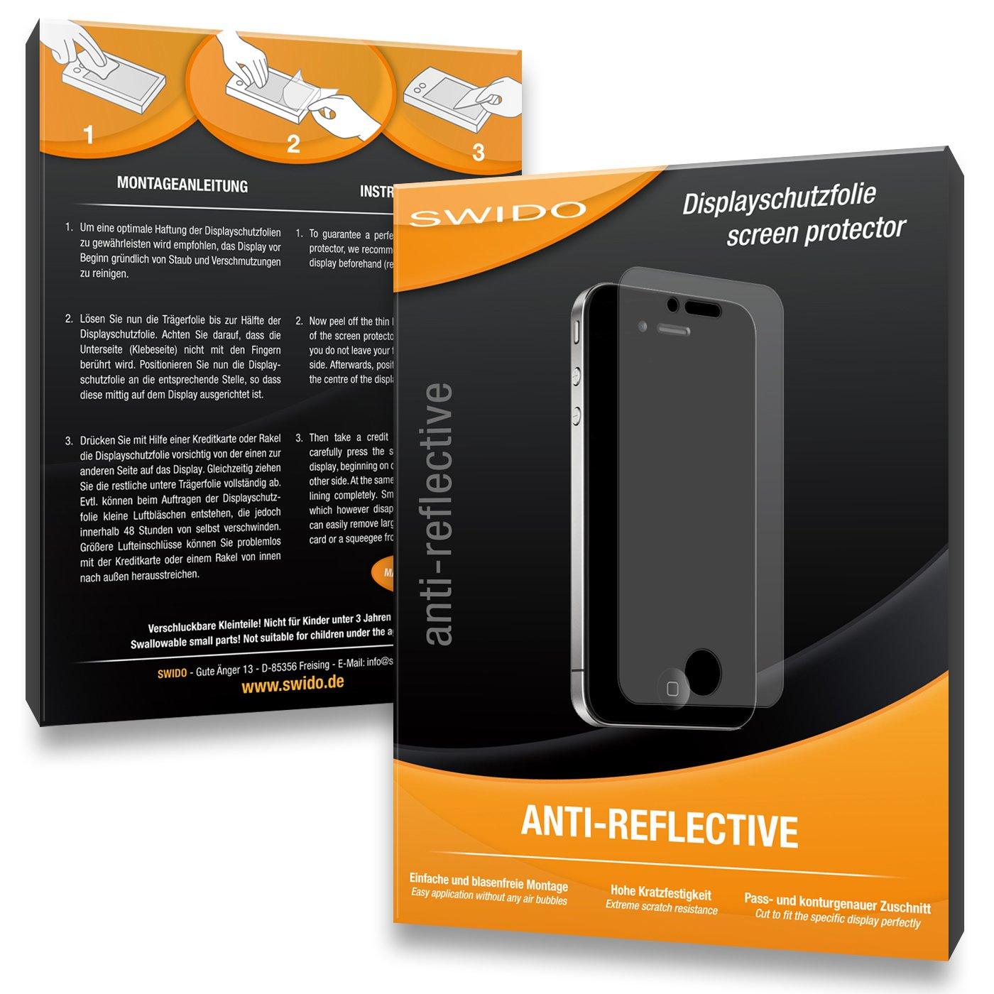 2 x SWIDO/® Protector de pantalla Panasonic Lumix DMC-LX100 Protectores de pantalla de pel/ícula CrystalClear invisible