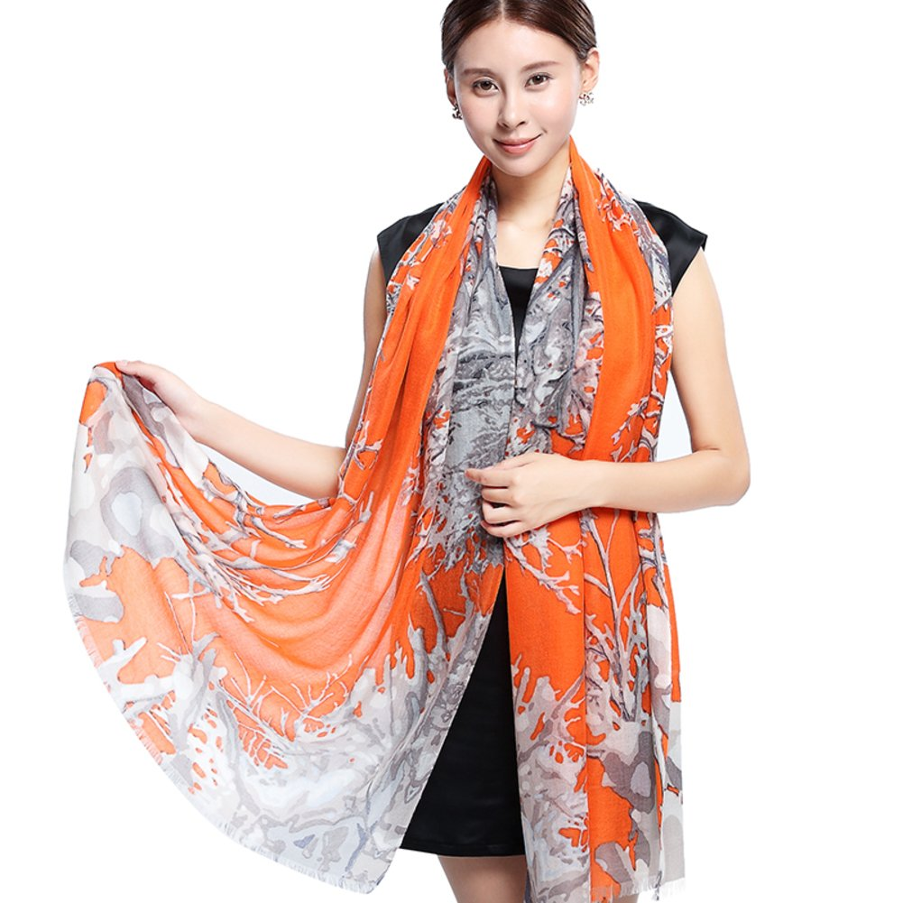 Print scarf in autumn and winter Ladies shawls Dual-use wild long double-sided scarf-A One Size