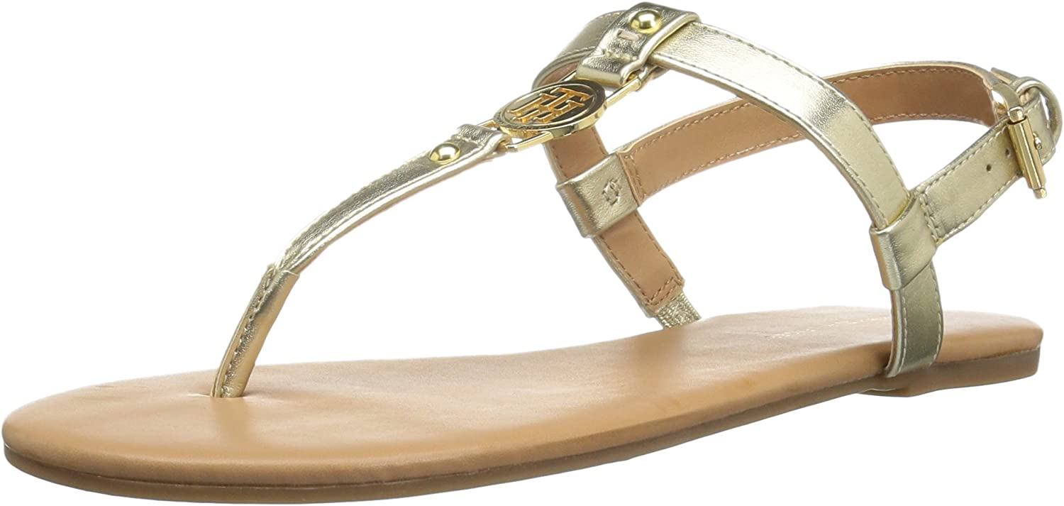 Choose SZ//Color. Tommy Hilfiger TWLOREO Womens Loreo Flat Sandal