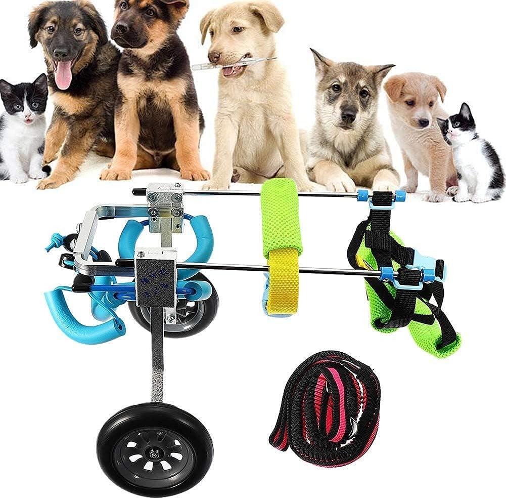 N&O Renovation House - Silla de Ruedas para Perros 2 Ruedas Scooter Ajustable para Mascotas Peso Ligero rehabilitación de Patas traseras para Perros con Artritis y displasia de Cadera para Mascota