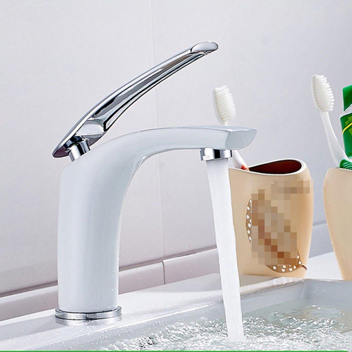 Daadi Küche Badezimmer voll Kupfer verGoldet einzelne single Loch in kalten Wasserhahn Küche Badezimmer Waschbecken Wasserhahn zu sitzen Griff