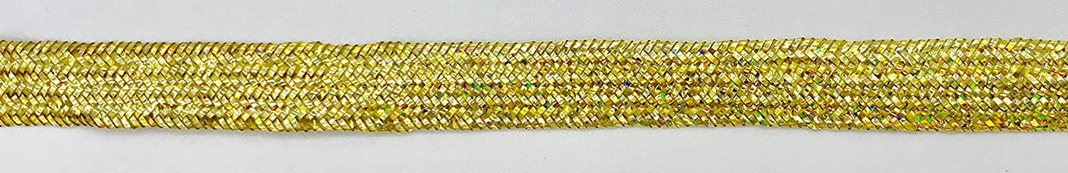 12 Yards Trimplace Gold Holographic 5//16 Metallic Middy Braid