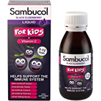 Sambucol Natural Black Elderberry for Kids with Vitamin C, 120ml