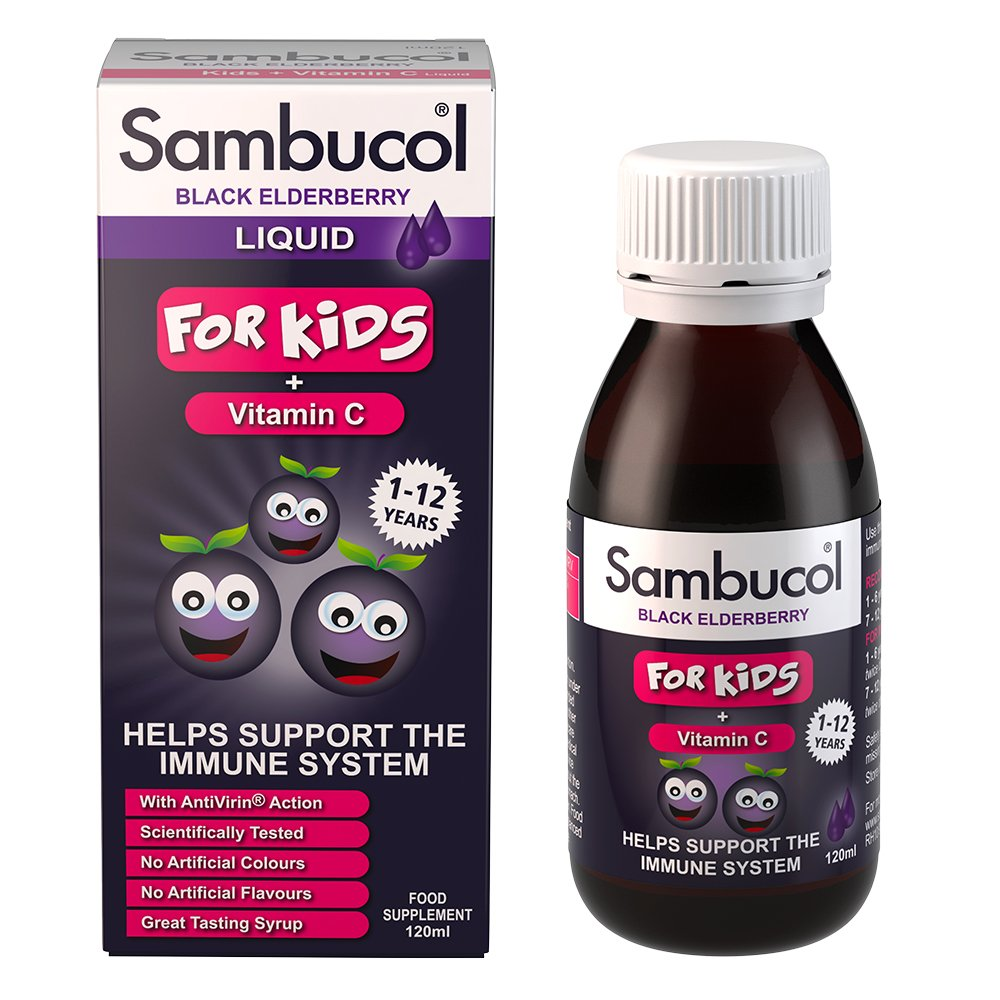 Sambucol Black Elderberry for Kids, 4 Ounce Bottle, High Antioxidant Black Elderberry Extract Syrup for Immune Support, Children's Formula