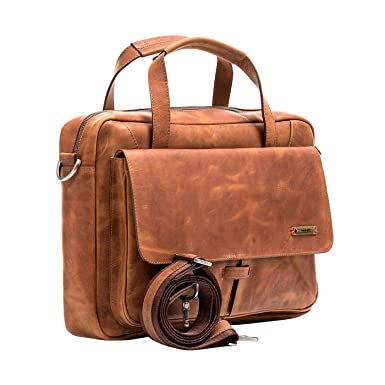 ... Genuine Colombian Leather Business Travel Briefcase Laptop Crossbody Messenger Bag | Maletin y Bolso de Cuero Colombiano para Hombres Brown | Briefcases