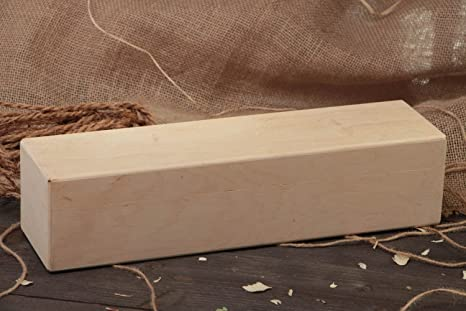 Caja para vino de contrachapado pieza para decoupage o pintura hecha a mano