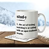 Study Funny Definition - Mug and Coaster By Inky Penguin