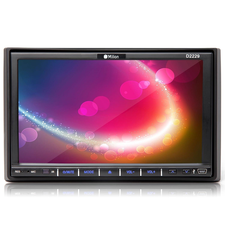 714hAicPxFL._SL1500_ amazon com milion 7 inch double din in dash car head unit monitor  at eliteediting.co