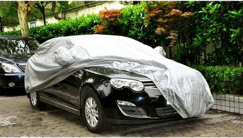 KKmoon Autoabdeckung Vollgarage Abdeckplane Auto Garage mit Reflexstreifen Staubdicht Wasserdicht Winter /& Sommer Schwarz S:4,15 /· 1,7 /· 1,5 m