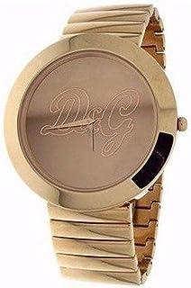 Dolce & Gabbana Womens ROCKABILLY DW0282 Gold Gold Tone Analog Quartz Watch with Gold Dial