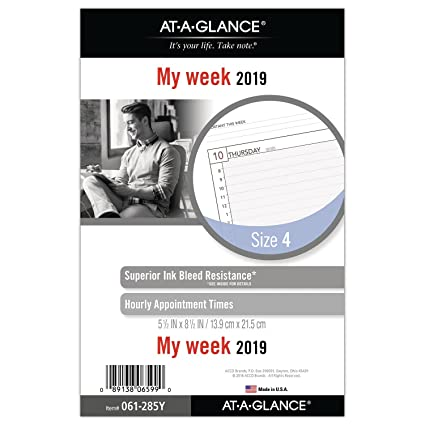 amazon com at a glance 2019 weekly planner refill day runner 5 1