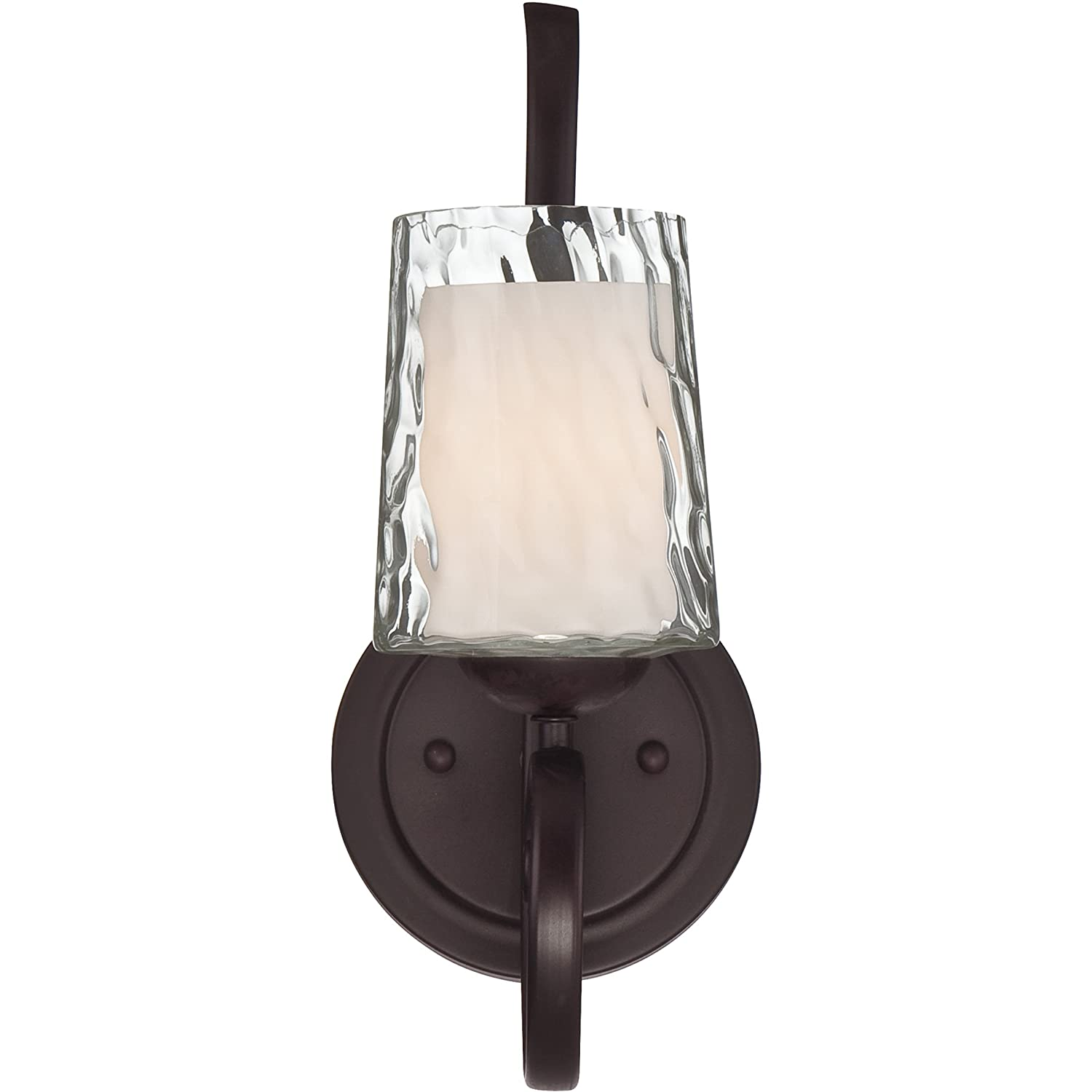 Forte Lighting 114824 2214-05-17Chandelier with Gold Dust Glass Shades 28 x 23 x 28 Chestnut