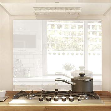 Glas Expert Küchenrückwand | 75 x 60 cm | Weiß - Pure White | Ultra ...
