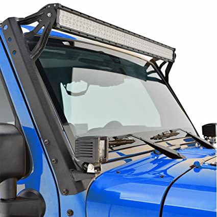Amazon e autogrilles 52 led light bar mounting brackets for 07 e autogrilles 52quot led light bar mounting brackets for 07 17 jeep wrangler aloadofball Gallery