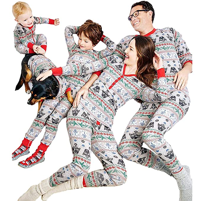 3e8d3b936e0e Star Wars Grey Matching Christmas Family Pajamas Set Sleepwear Nightwear   Amazon.co.uk  Clothing