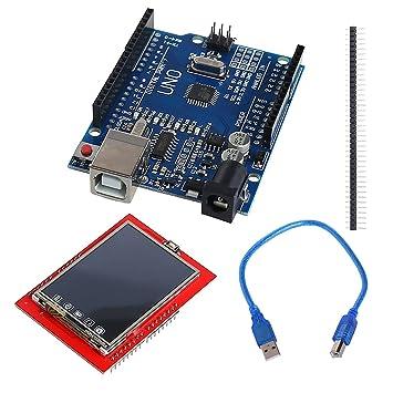 FLAMEER TFT Touch Pantalla LCD Kit MEGA328P Placa Pantalla Táctil Protector para Arduino: Amazon.es: Electrónica