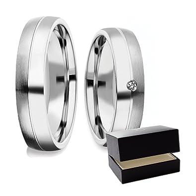 Partnerringe silber matt schlicht  Eheringe Verlobungsringe Trauringe Silber 925 (Weißgold Platin ...