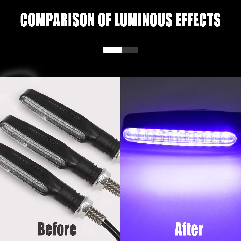 Frecce Led Moto YuanGu Indicatori di Direzione Moto 12V 12 LEDs Bulbs Verde Impermeabile Universal per moto Motorino a quattro ruote Quad Cruiser Off Road 4 Pz