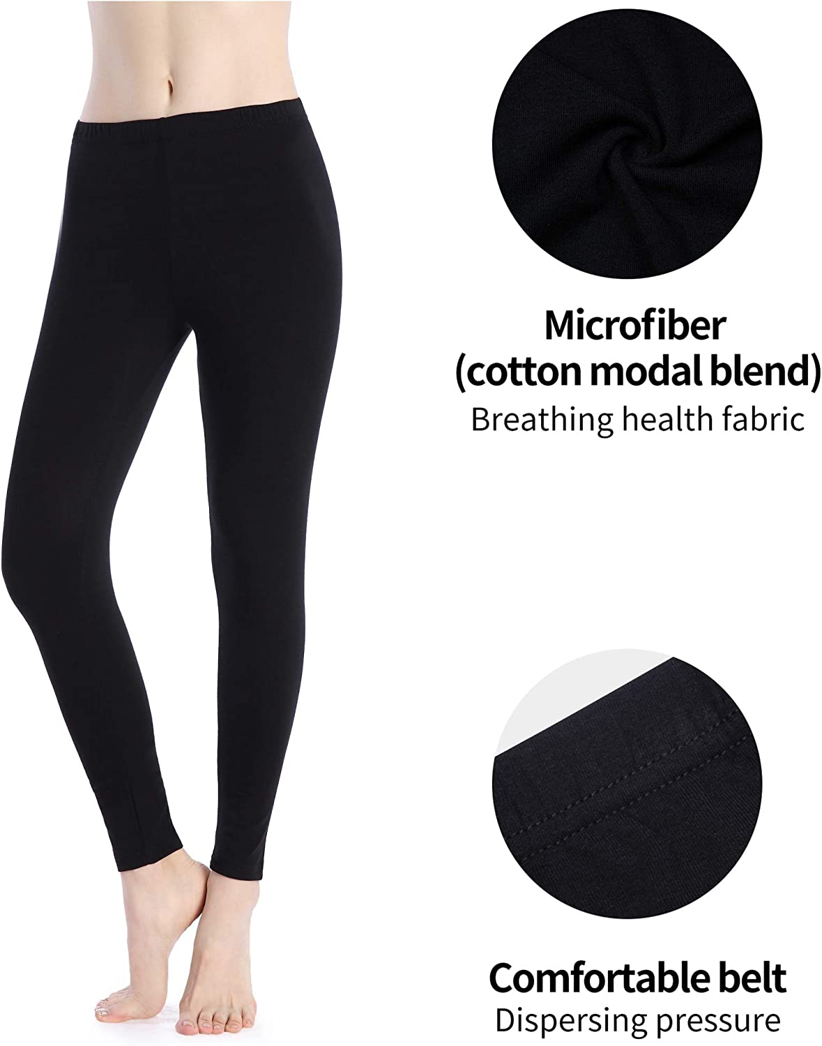 Foucome Women Yoga Leggings High Waist Out Pocket Yoga Pants Tummy Control Workout Running Stretch Capris