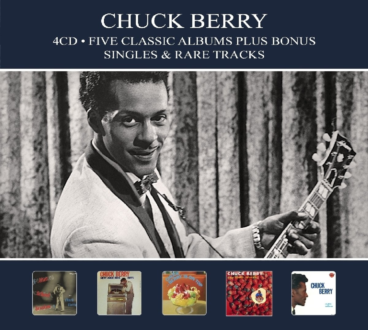 CD : Chuck Berry - 5 Classic Albums Plus Bonus Singles & Rare Tracks (Germany - Import)